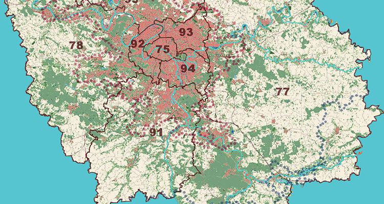 Carte de l'Ile de France