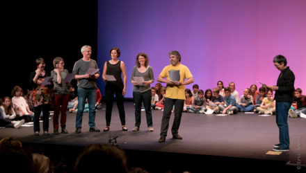 Le 1er juin des écritures théâtrales jeunesse 2017 au Théâtre Athénor. Photo Eric Sneed