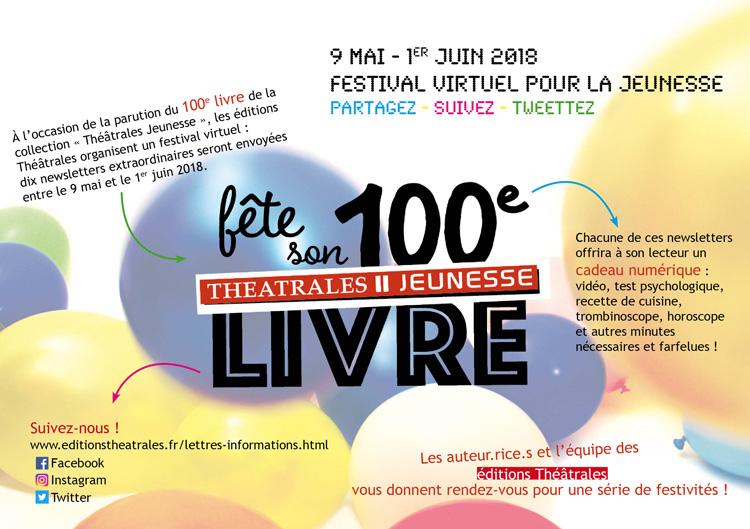 Théâtrales Jeunesse fête sa 100ème !